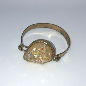Anthropologie Gold Clasp Bracelet